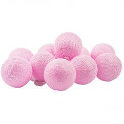 Kulki LED różowe słabo