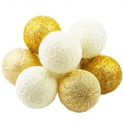 Kulki LED złote